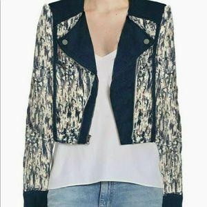 Bcbgmaxazria Multi Color Cody Moto Jacket XXS NEW